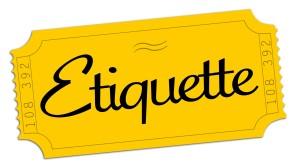 Workshop/lesson etiquette
